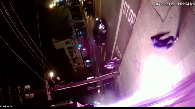 Video of Arson Suspect in LGBT Mural Defacement