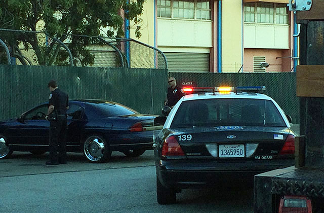Then there was this routine traffic stop which turned into . . . a routine traffic stop. Photo by Mark Rabine.