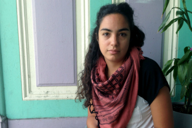 Gabriela Navarro, tenant of Alabama Street who is helping her neighbors stay in their home. Photo by Emma Neiman.