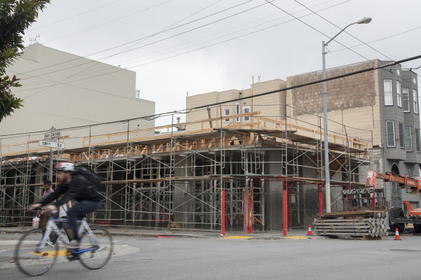 The new condominium being built at the corner of 18th St. and San Carlos St. Wednesday July 8, 2015. Photo by Martin Bustamante