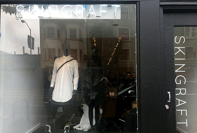 A new pop-up SkinGraft plans to stay for a month or so. Photo by Lydia Chávez