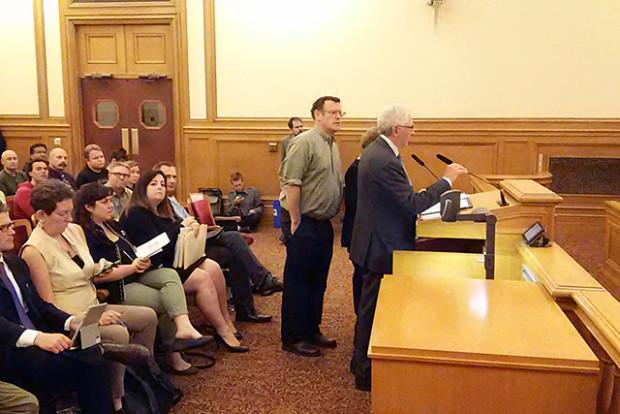 Rick Holman and Steve Vettel address the Planning Commission.