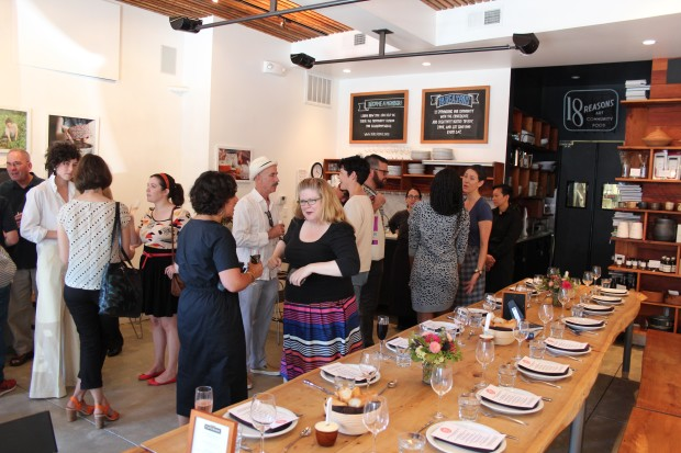 The small lunch of family and friends celebrating Bi-Rite's 75th anniversary. Photo by Joe Rivano Barros.