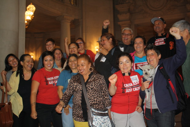 """Tenants rights advocates elated after board approves """"Eviction Protection 2.0"""". Photo by Julian Mark"""