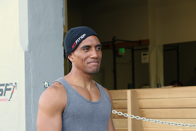 Personal trainer Hank Frost leads a workout at Hit Fit SF on Harrison Street. Photo by Janet Kornblum