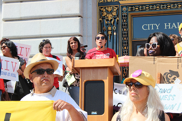 Activists Call For Tenant Protections at City Hall