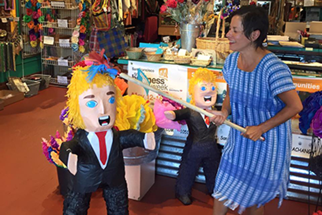 Trump Piñata Bashing at Casa Bonampak