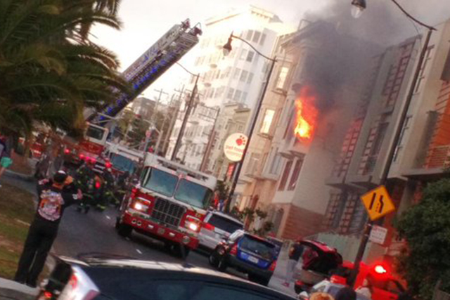 Explosion Rocks Building Before Dolores Street Fire