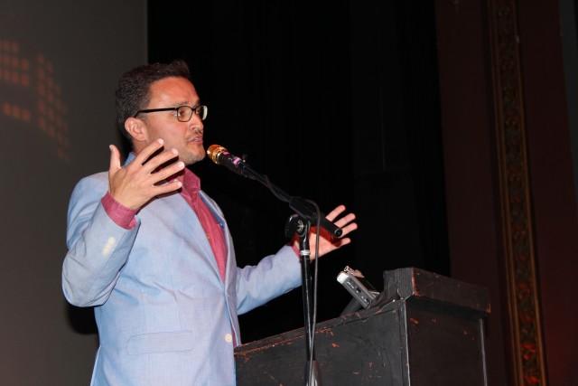 Supervisor David Campos speaking at the Vision SF kick-off rally. Photo by Joe Rivano Barros.
