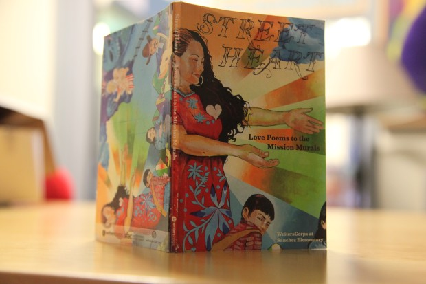 """The 59-page """"Street Hearts"""" booklet created by Sanchez Elementary School students this summer. Photo by Joe Rivano Barros."""