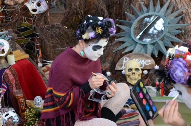 SNAP: Dia De Los Muertos Make-up Applied