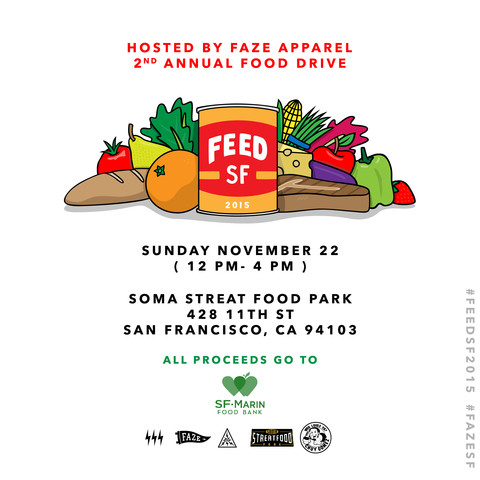 Food Drive at SOMA StrEat Food Park Today