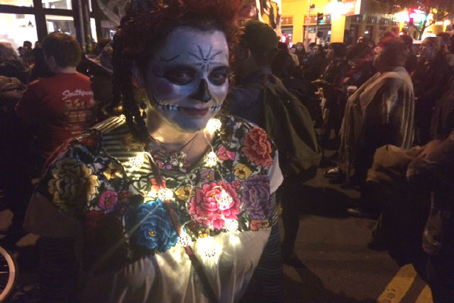 """Dia de los Muertos is the soul of the city, and its the antithesis of the commercialized Halloween. I participate every year."" Victoria Doggett"