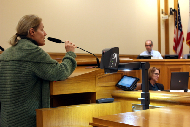 Theresa Flandrich spoke during public comment at Tuesday's meeting.