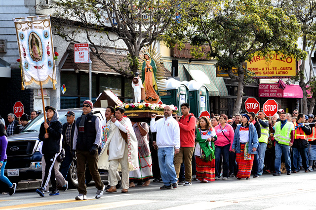 Hundreds Walk to Honor the Virgin of Guadalupe