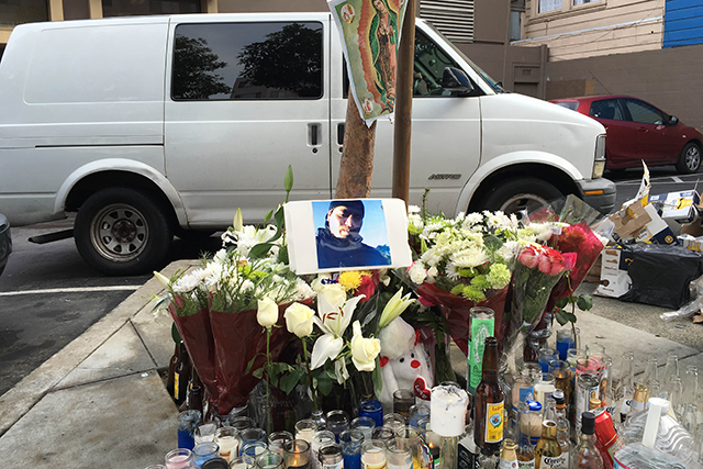 Fights, Shooting Plague Memorial at SF Mission Homicide Site