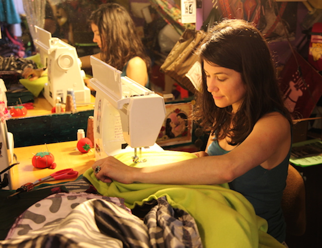 SF Mission Artists Sew Blankets for the Homeless