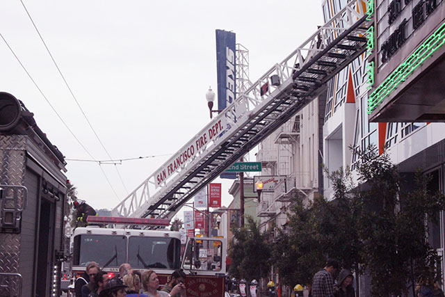 Small Rooftop Fire at New Mission Theater Leaves Little Damage