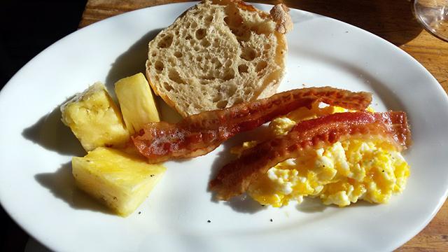 Boheme bacon eggs