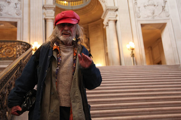 Poet and San Francisco staple Diamond Dave Whitaker was recognized on February 2 by the Board of Supervisors, who declared the day in his honor. Photo by Laura Waxmann
