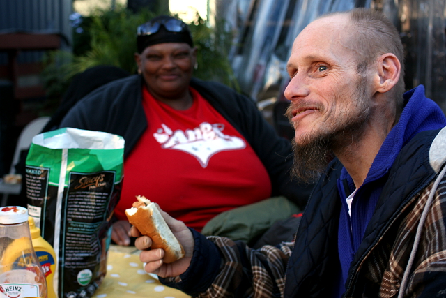 Super Bowl Party in SF Mission Feeds Homeless