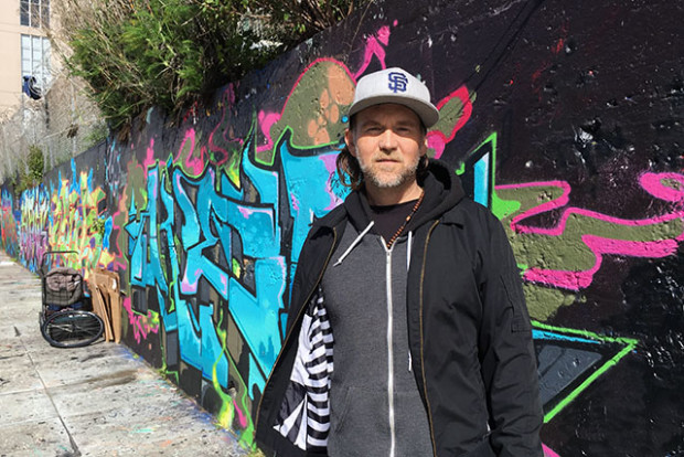 Chris Young has been homeless in the Mission district since October and said he is tired of being ridiculed. Photo by  Laura Waxmann