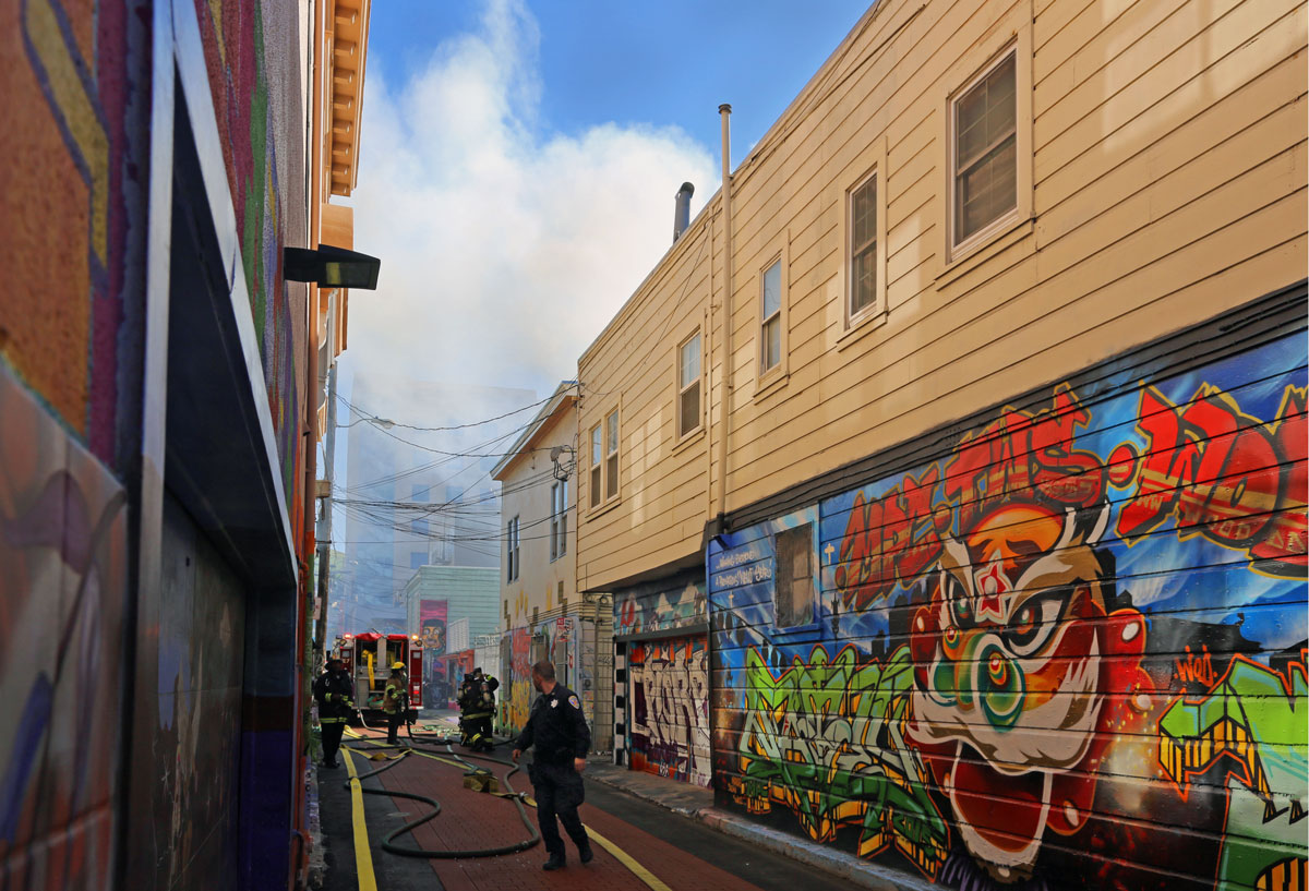 Small Fire on Cypress Alley Displaces One Tenant