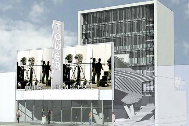 A design proposal for the cinema school, courtesy of Leonardo Zylberberg