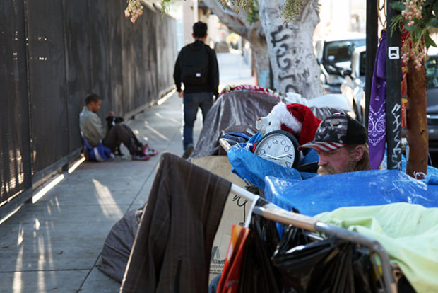 Eddy had been camping on 18th Street in the Mission District until he was ordered to move during a Public Works sweep on March 17. Photo by Laura Waxmann