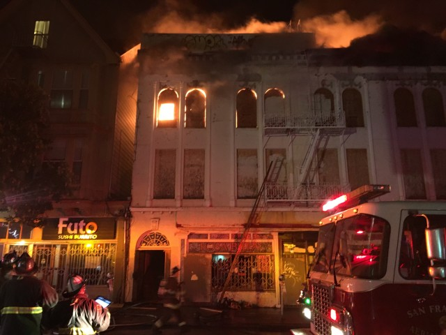 Fire Erupts Again at Vacant 22nd and Mission Building