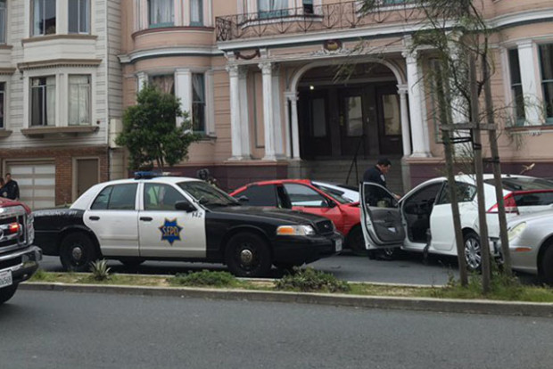 The scene of a fatal collision on Guerrero Street. Photo by Lisette Mejia