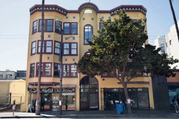 The nuns of the Fraternite Notre Dame Mary of Nazareth Soup Kitchen planned to move into an empty commercial space at 1930 Mission St. Photo by Lola Chavez