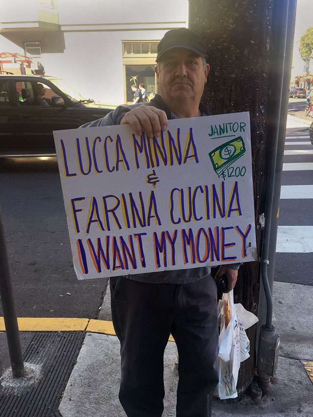 Gustavo Palma outside Farina Pizzeria on Valencia and 18th.