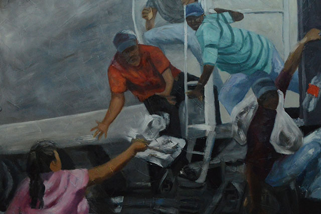 The Women Who Feed the Migrants: A Mission Painter's View