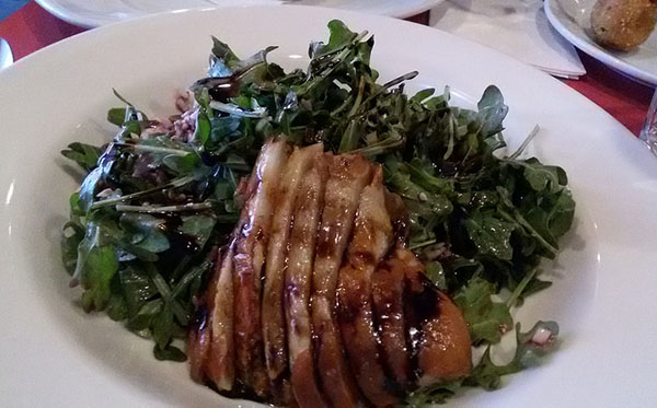 Emmy's grilled pear salad.