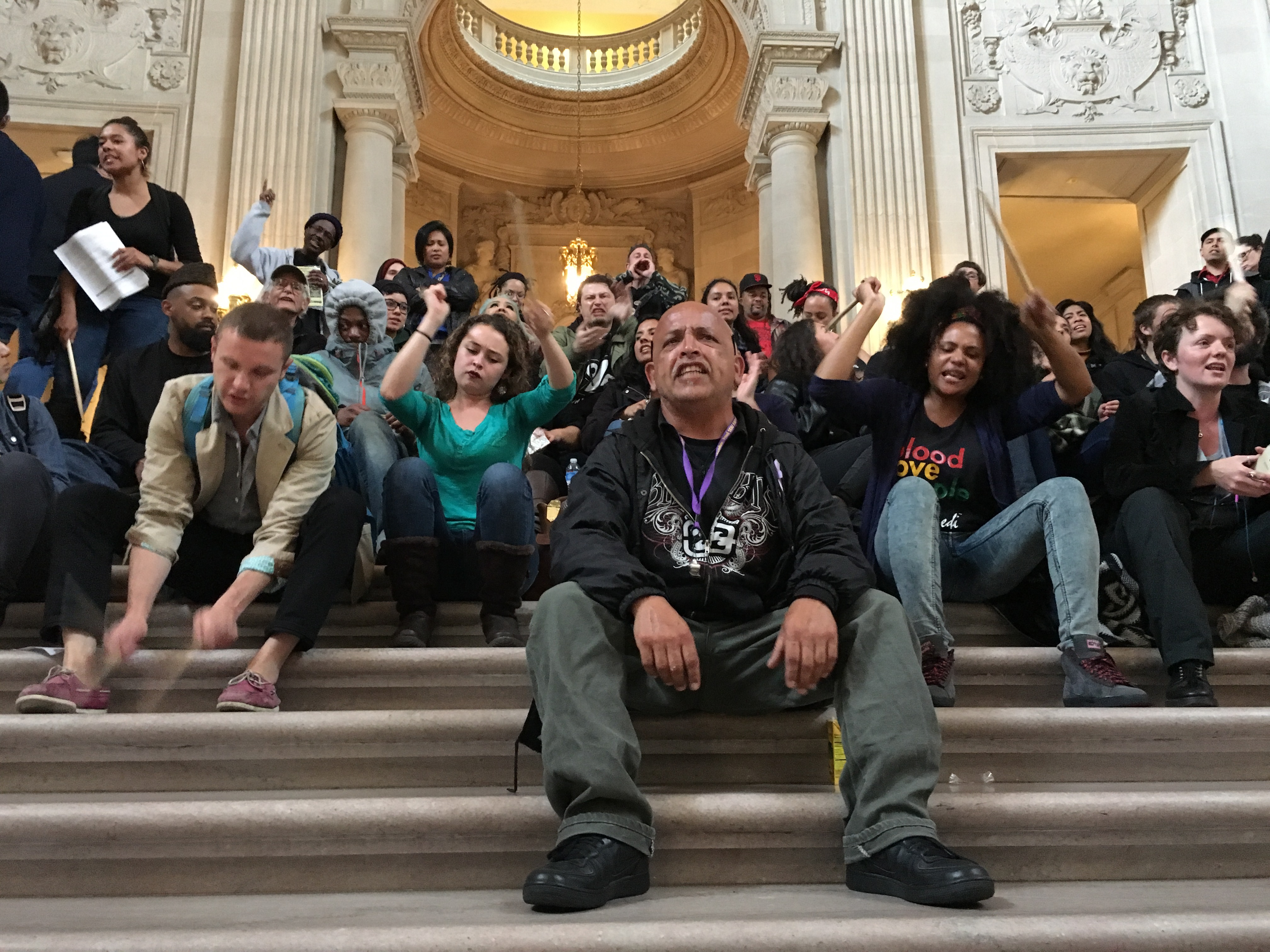 33 Arrests, Chaos as Supporters of Hunger Strikers and Sheriff's Deputies Clash at City Hall