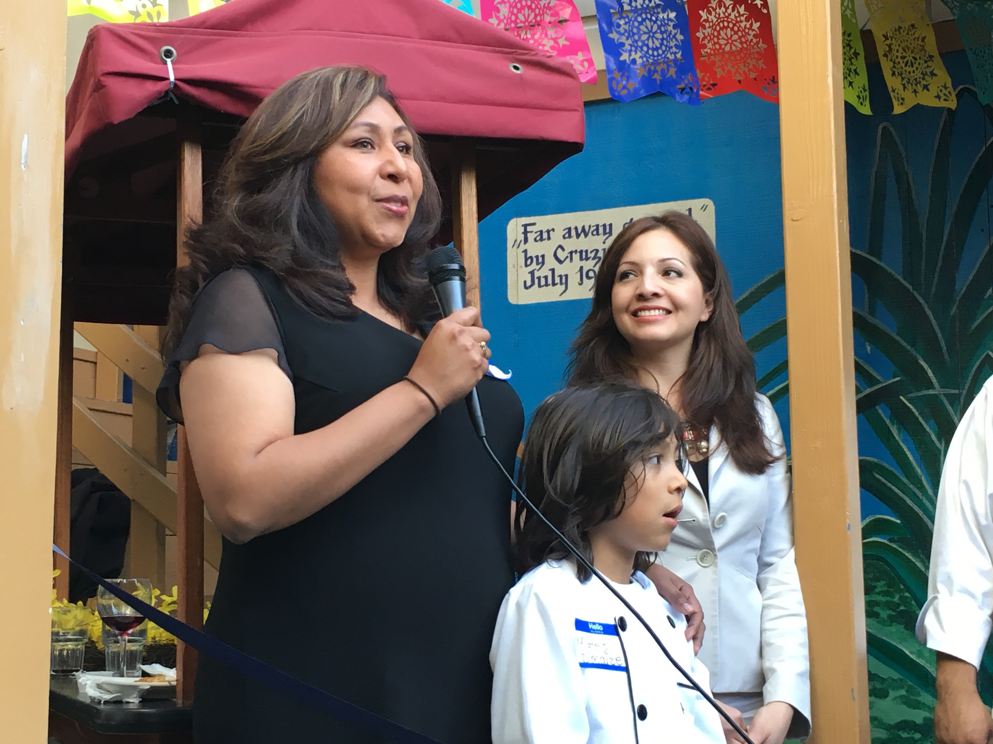 Zenaida Merlin at the grand opening of D'Maize on Thursday, May 12. Photo by Joe Rivano Barros.