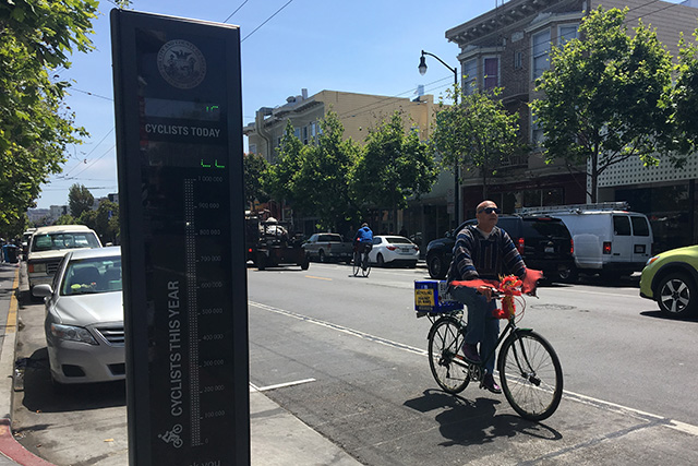 Valencia Bike Counter Activated for Bike to Work Day