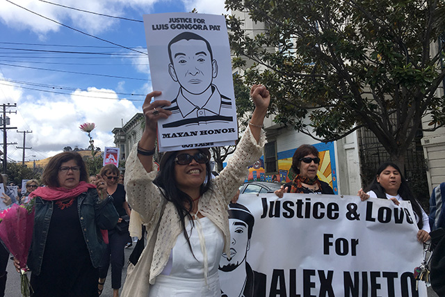 """Families of Police Shooting Victims Walk In """"River of Sorrow"""" Through SF's Mission"""