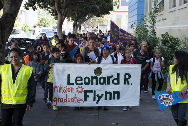 Elementary Students March for College Awareness