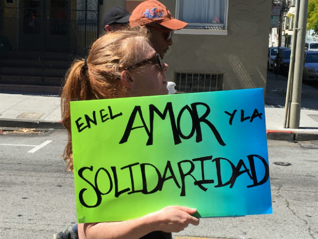 """In love and solidarity."" Photo by Joe Rivano Barros."