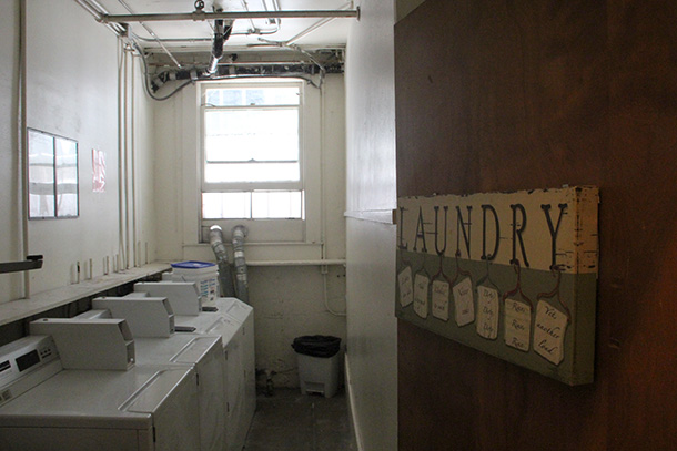 The laundry room at St. Joseph's.