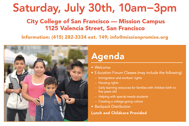 Education Forum and Backpack Giveaway on Saturday