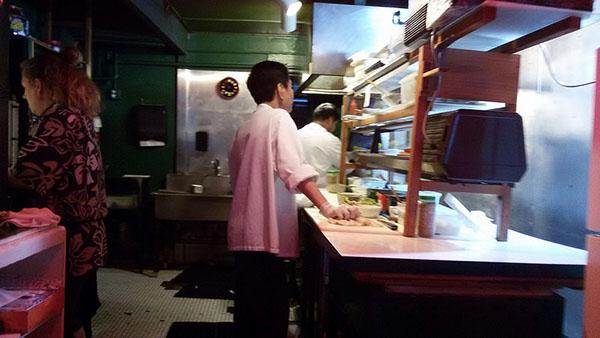 Chef's station.