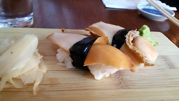 Steamed abalone.