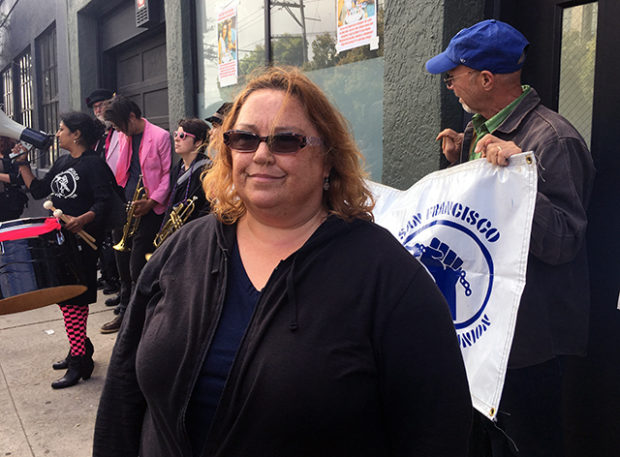 SF Mission teacher Michelle Malliet received a three-day eviction notice after her building was purchased in earlier this year. Photo by Laura Waxmann