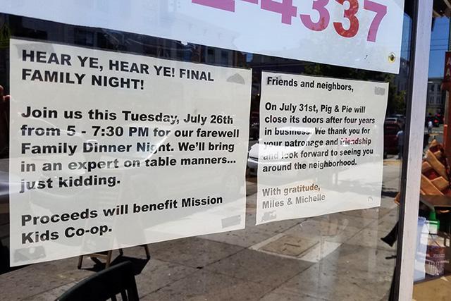 24th Street's Pig & Pie To Close