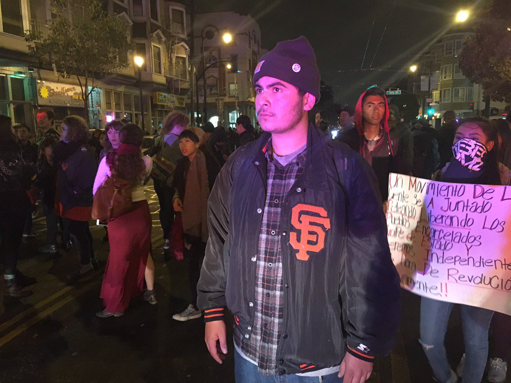 Police and Protesters Clash After March in Mission District