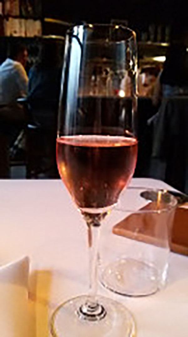 Pink bubbly.