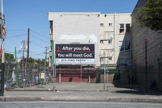 The empty lot at 1801 Mission St. at the corner of Mission and 14th streets. Photo by Lola M. Chavez
